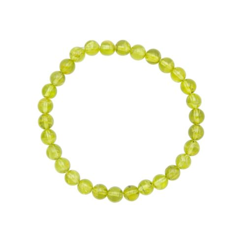 Bracelet chrysolite 6mm