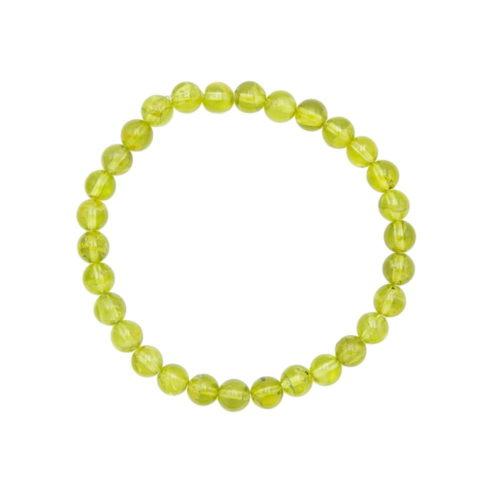 bracelet olivine 6mm