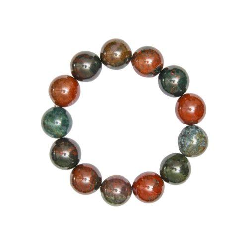 bracelet pierre de sang 14mm