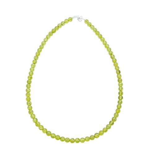 olivine-stone-beads-necklace