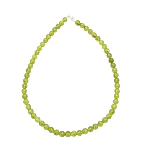 Olivine Necklace 8 Mm