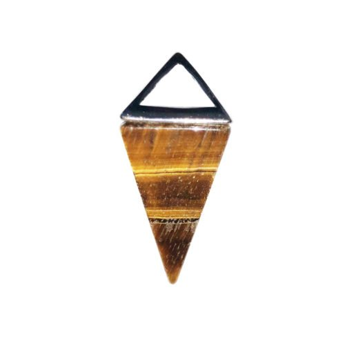 Tiger's Eye Pendant Pyramid Silver
