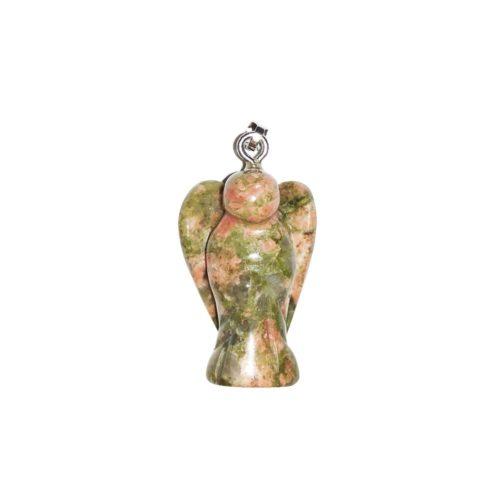 unakite-small-angel-pendant