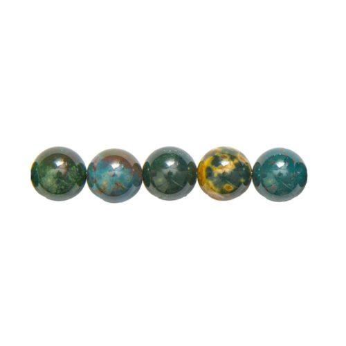 Round Bloodstone Beads 8 mm
