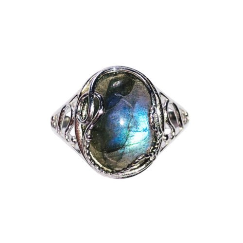 capucine labradorite 925 silver ring