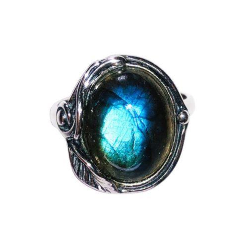 justine labradorite 925 silver ring