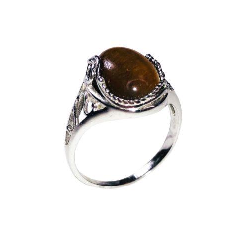 capucine tiger-s eye 925 silver ring