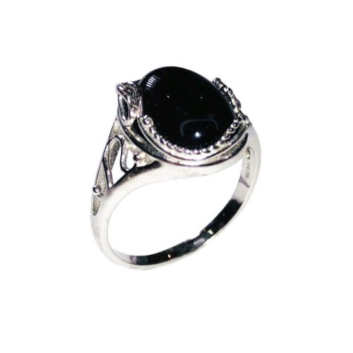 capucine black onyx 925 silver ring
