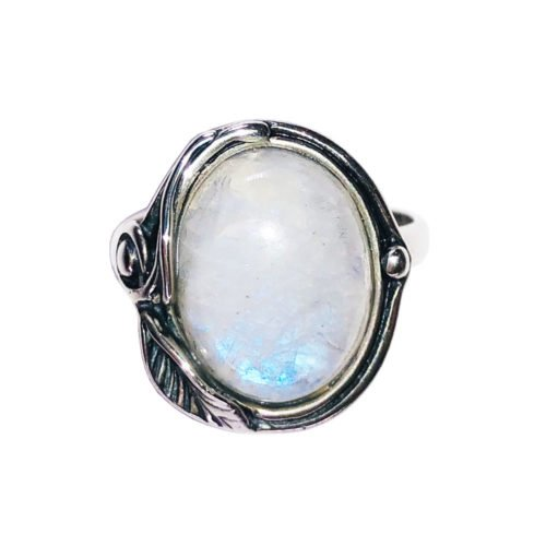 bague pierre de lune argent rhodié