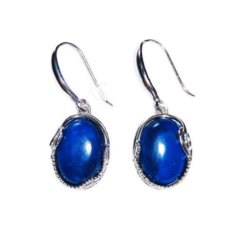 """Boucles d'Oreilles Lapis-lazuli """"Capucine"""" - Argent 925"""