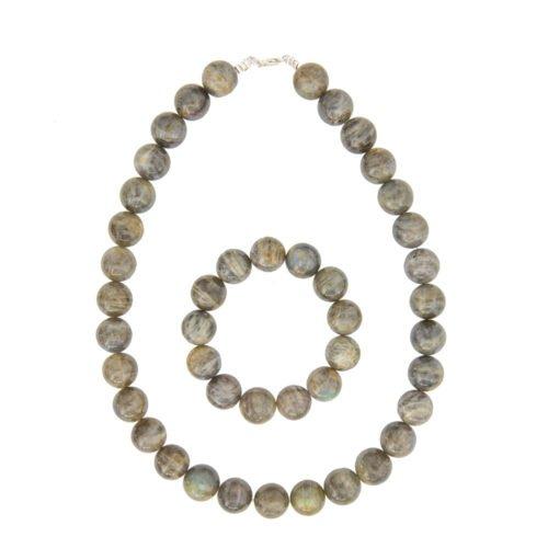 Spectrolite Jewellery Set - 14mm