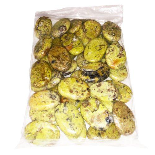 Bag of Green Opal Pebbles