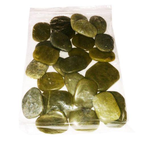 Bag of Serpentine Pebbles