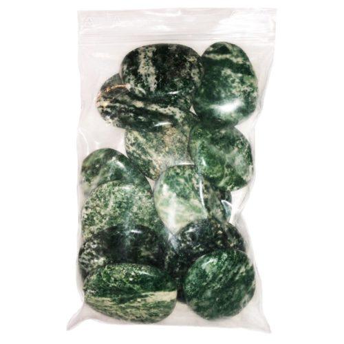 Bag of Dark Serpentine Pebbles