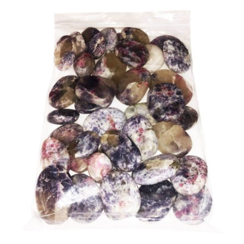 Bag of Pink Tourmaline Pebbles