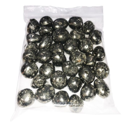 1kg bag of Peruvian Pyrite tumbled stones