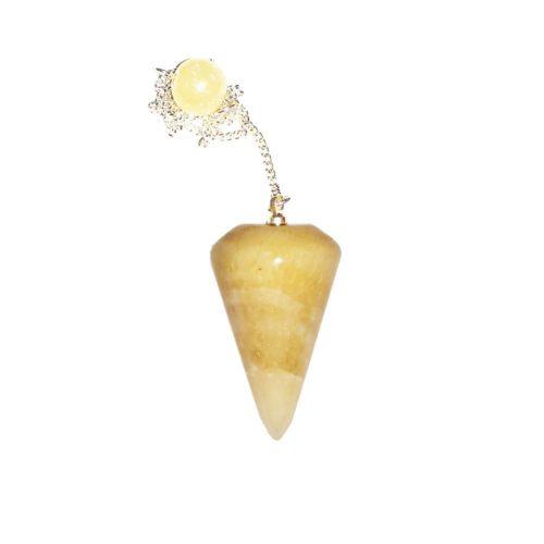 pendule-calcite-orange-cone