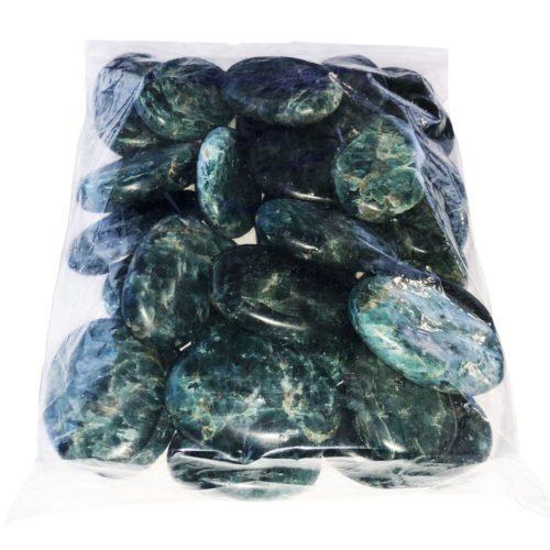 green apatite pebbles