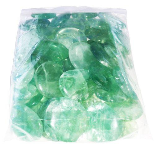 Green-fluorite-pebbles