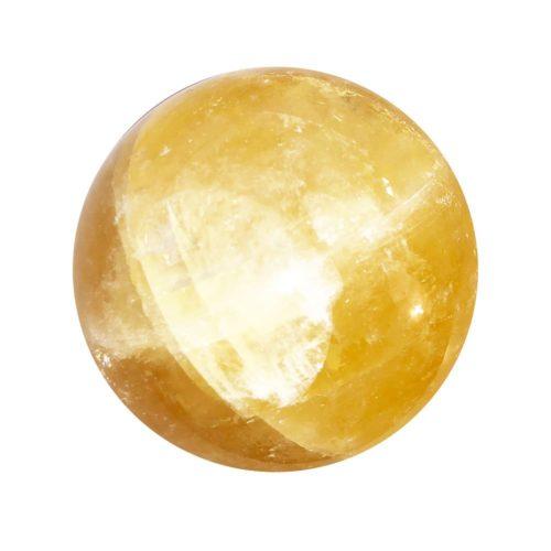 orange-calcite-sphere