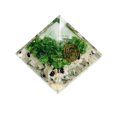 Moonstone Orgone Pyramid Selenite Green Onyx