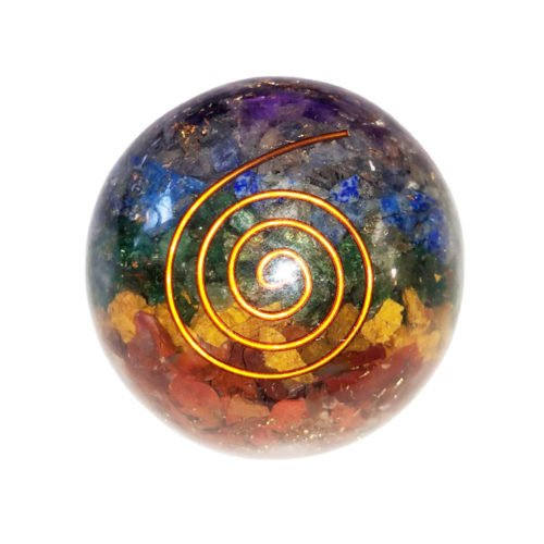 Orgonite Sphere 7 Chakras 50 to 55 mm