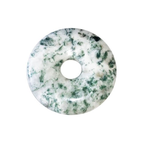 Tree Agate Chinese Disc or Donut – 30 mm