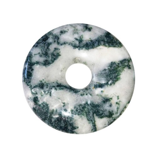 Tree Agate Chinese Disc or Donut – 40 mm