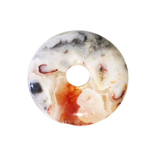 Crazy Lace Agate Chinese Disc or Donut – 30 mm