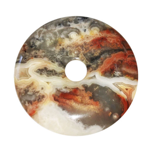 Crazy Lace Agate Chinese Disc or Donut – 50 mm