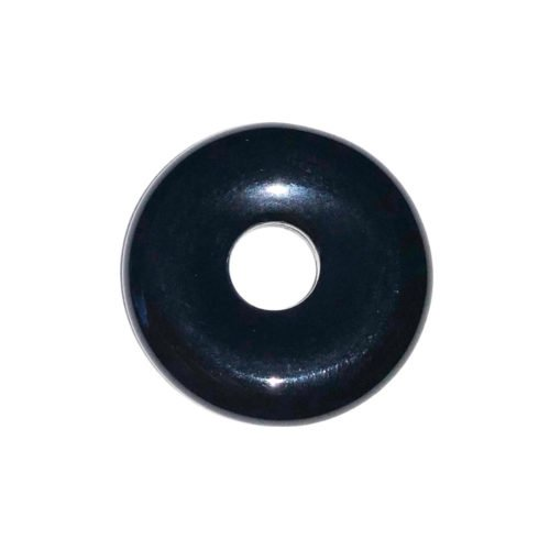 Black Agate Chinese Disc or Donut – 20 mm