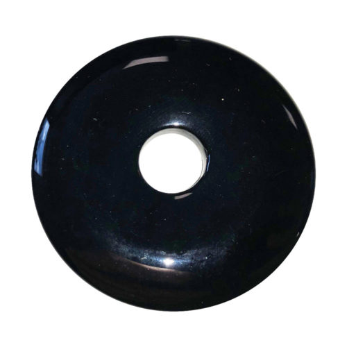 Black Agate Chinese Disc or Donut – 50 mm