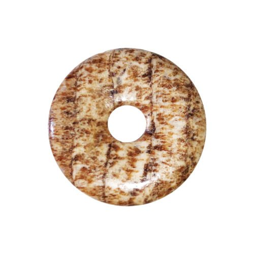 Brown Aragonite Chinese Disc or Donut – 30 mm