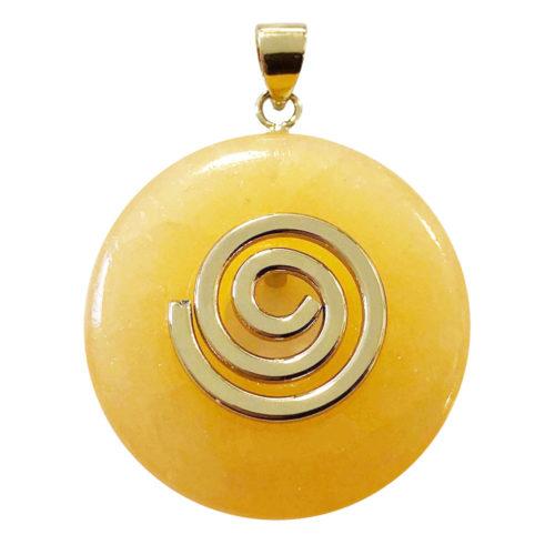 pendentif calcite orange pi chinois