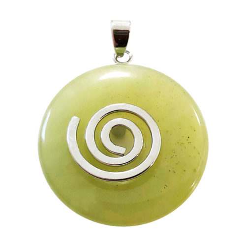 pendentif jade vert pi chinois