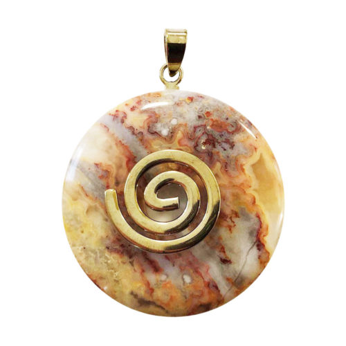 pendentif agate crazy lace pi chinois