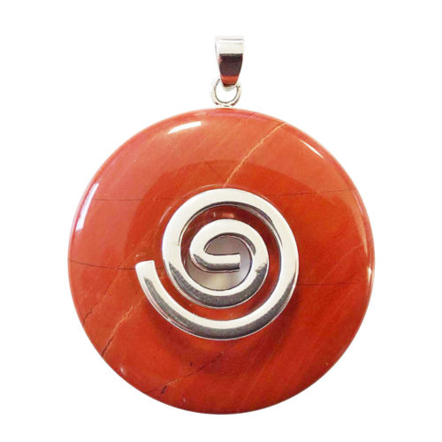 pendentif jaspe rouge pi chinois