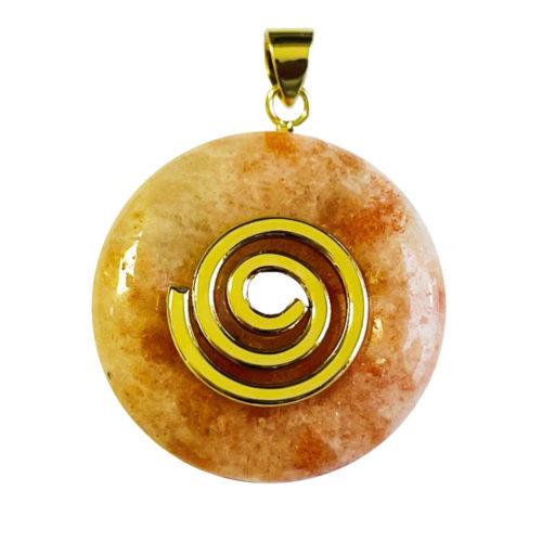 Pendentif Pierre de Soleil - PI chinois ou Donut