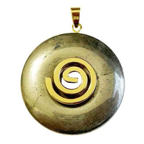 Pendentif Pyrite - PI chinois ou Donut
